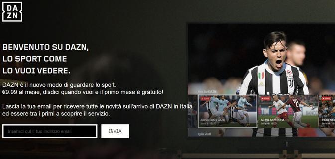 DAZN il Netflix del Calcio