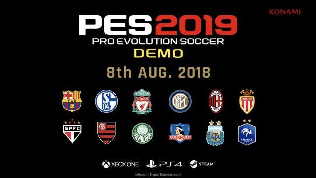 Ufficiale la data della demo di PES 19